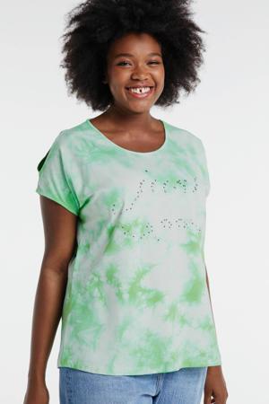 tie-dye T-shirt lichtgroen