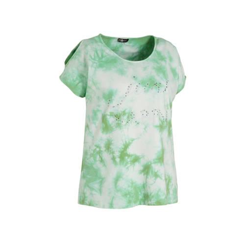 No Secret tie-dye T-shirt lichtgroen