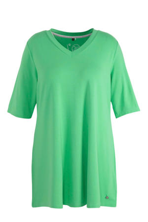 tuniek Basic-Tunika 3/4 Arm, V-Ausschnitt groen