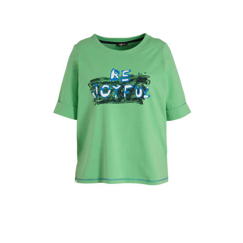 No Secret T-shirt met printopdruk groen