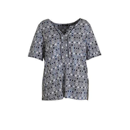 No Secret T-shirt met all over print blauw
