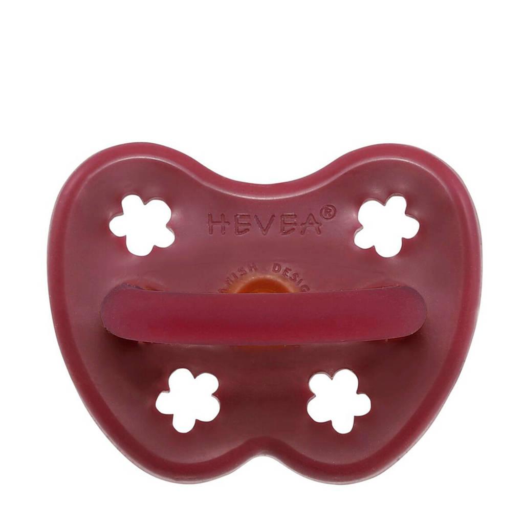 Hevea HEVEA speen orthodontist Ruby Red 3-36 mnd, Donkerrood