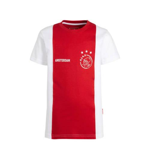 Ajax T-shirt logo Amsterdam rood/wit