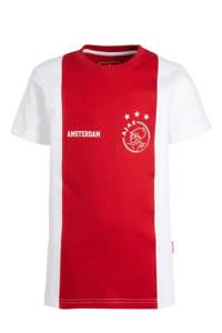 Ajax T-shirt logo Amsterdam rood/wit, Rood/wit