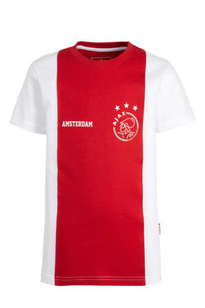 T-shirt logo Amsterdam rood/wit