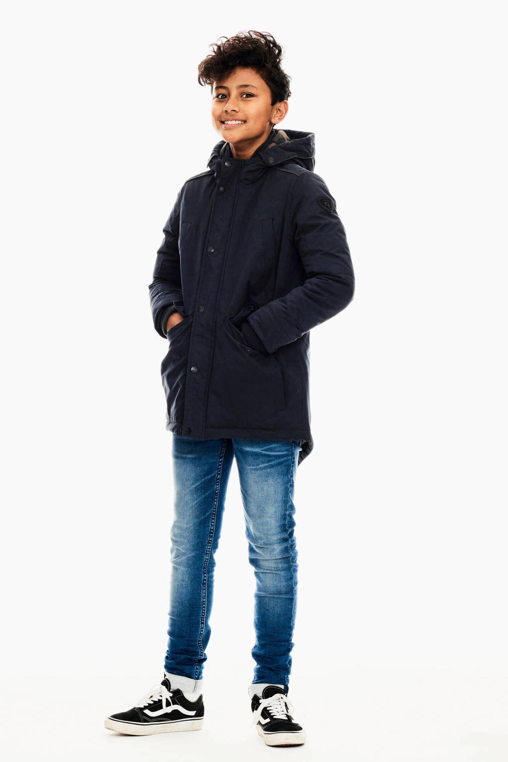 Garcia parka winterjas donkerblauw, Donkerblauw