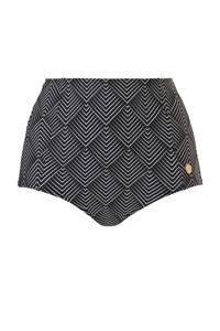 TC WOW high waist bikinibroekje met all over print zwart/wit, Zwart/wit