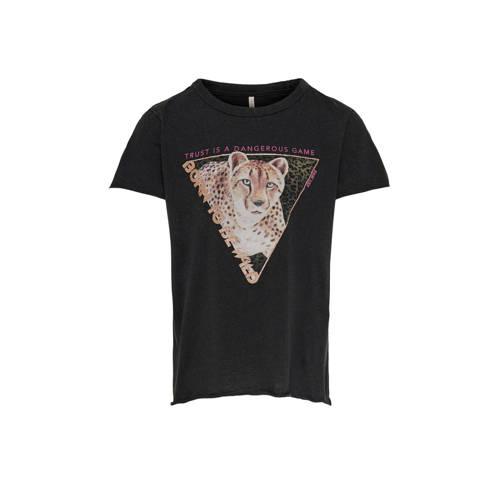 KIDS ONLY T-shirt Lucy van biologisch katoen zwart