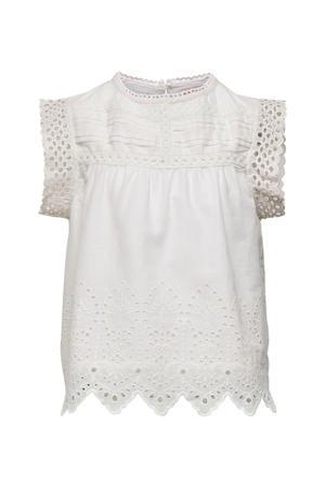 blouse Sabryna met broderie wit