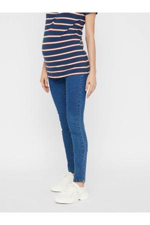 low waist slim fit zwangerschapsjegging Ibo stonewashed