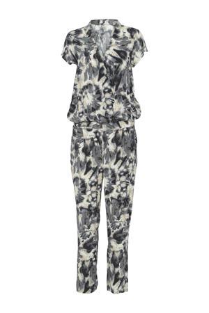 jumpsuit met all over print grijs