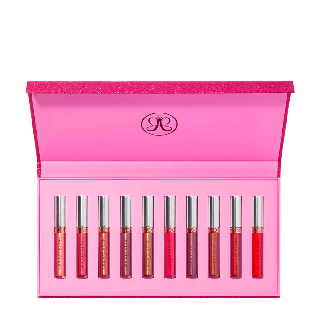 Anastasia Beverly Hills liquid lipstick set - Holiday (10 stuks), Liquid Lipstick-10 pc Holiday se 1