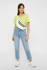 PIECES high waist straight fit jeans blauw, Blauw