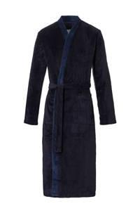 ten Cate fleece badjas donkerblauw, Donkerblauw/blauw
