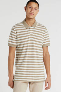 JACK & JONES ORIGINALS gestreepte slim fit polo ecru/beige, Ecru/beige