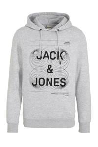 JACK & JONES CORE hoodie met printopdruk grijs, Grijs