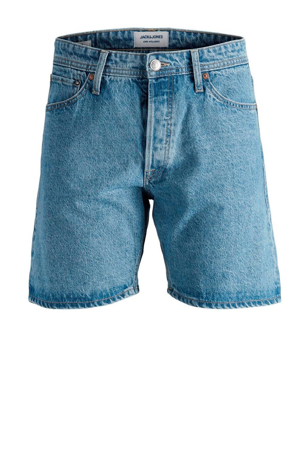JACK & JONES JEANS INTELLIGENCE regular fit jeans short Chris blue denim, Blue denim