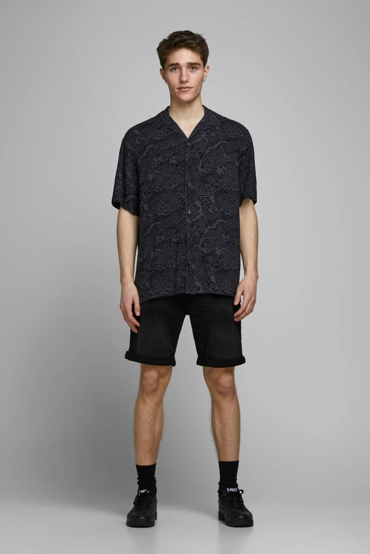 JACK & JONES JEANS INTELLIGENCE regular fit jeans short Rick black denim, Black denim