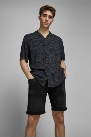 regular fit jeans short Rick black denim