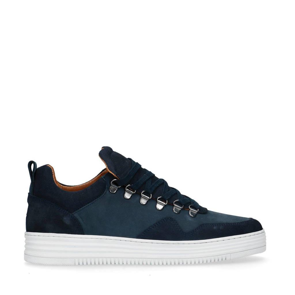 Sacha   suède sneakers donkerblauw, Blauw