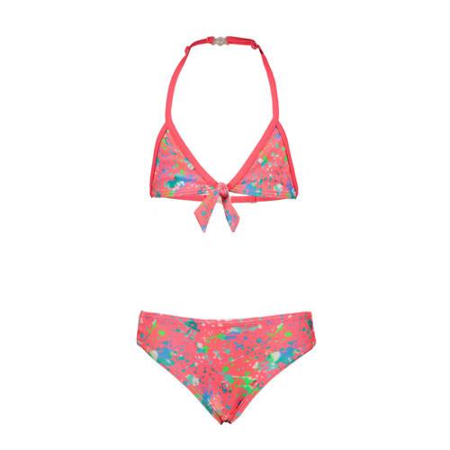 Just Beach triangel bikini met all over print kora