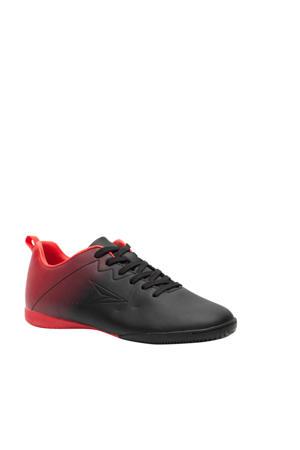 zaalvoetbalschoenen zwart/rood