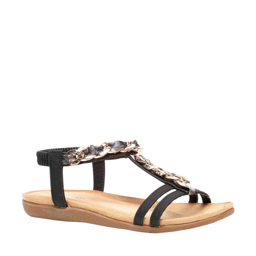 Scapino Blue Box   sandalen zwart/multi, Zwart