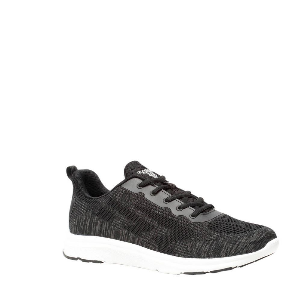 Scapino Osaga   hardloopschoenen antraciet, Zwart/wit