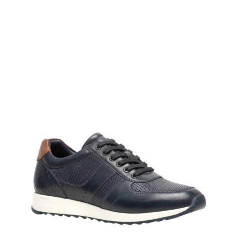 Scapino Van Beers leren sneakers blauw