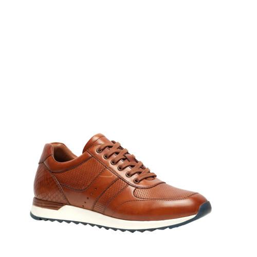 Scapino Van Beers leren sneakers cognac