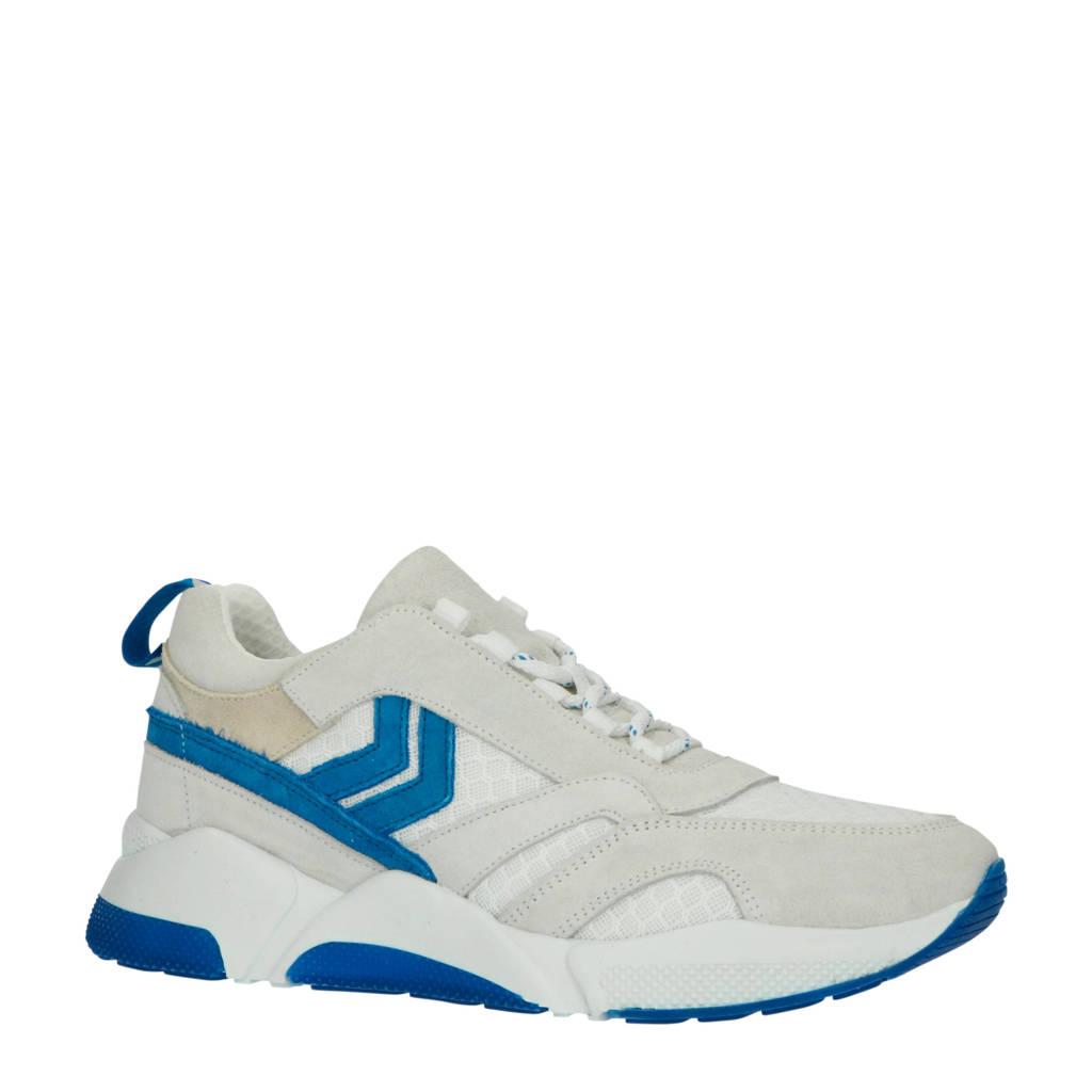 hummel HIVE Alberta suède sneakers beige/blauw, Beige/blauw