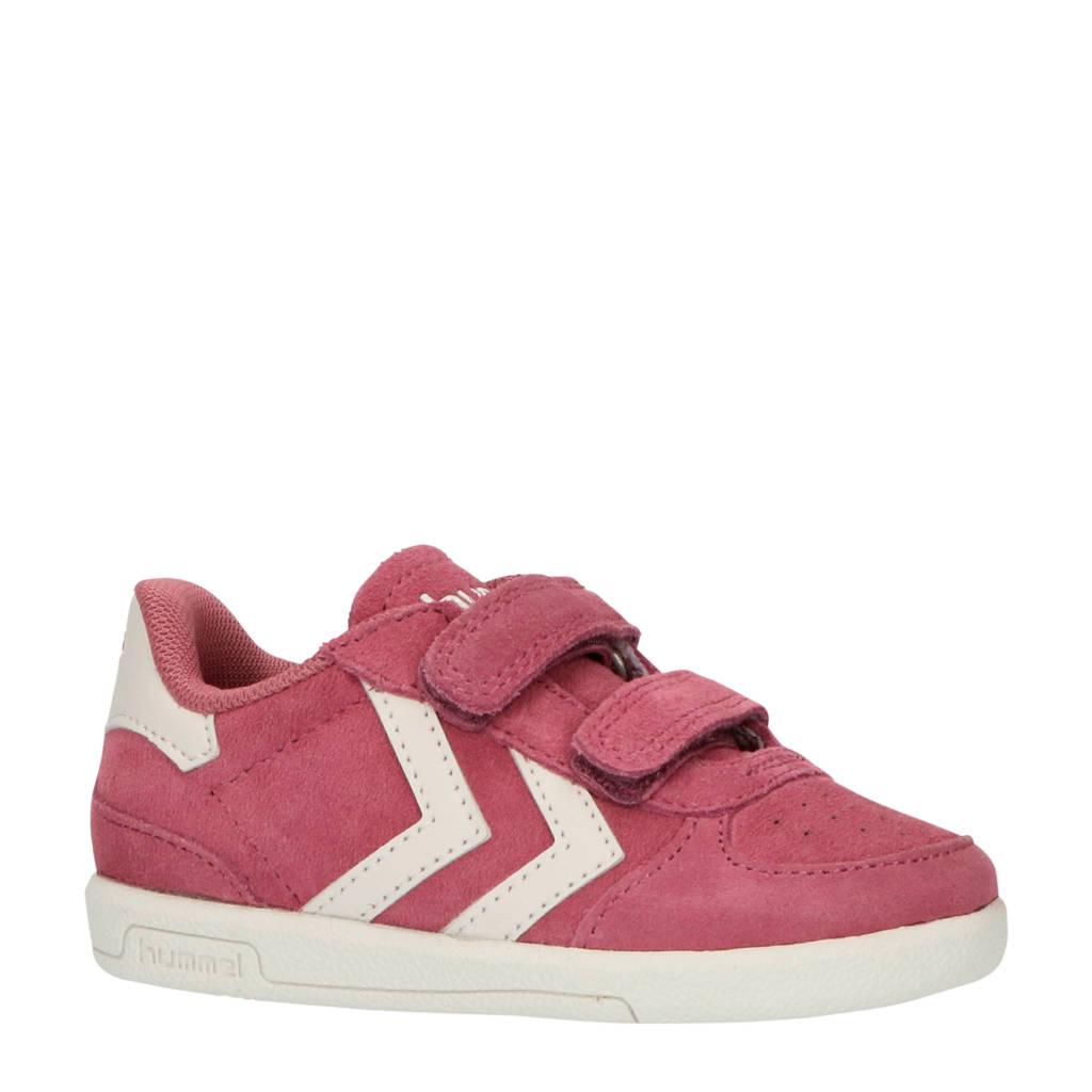 hummel Victory II JR  suède sneakers roze/wit, Roze/wit