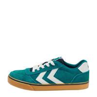 hummel Stadil 3.0 Jr  suède sneakers groen, Groen/wit