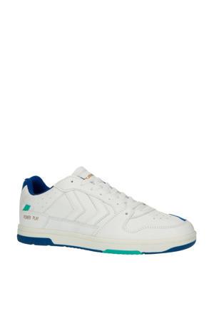 Power Play  leren sneakers wit/blauw