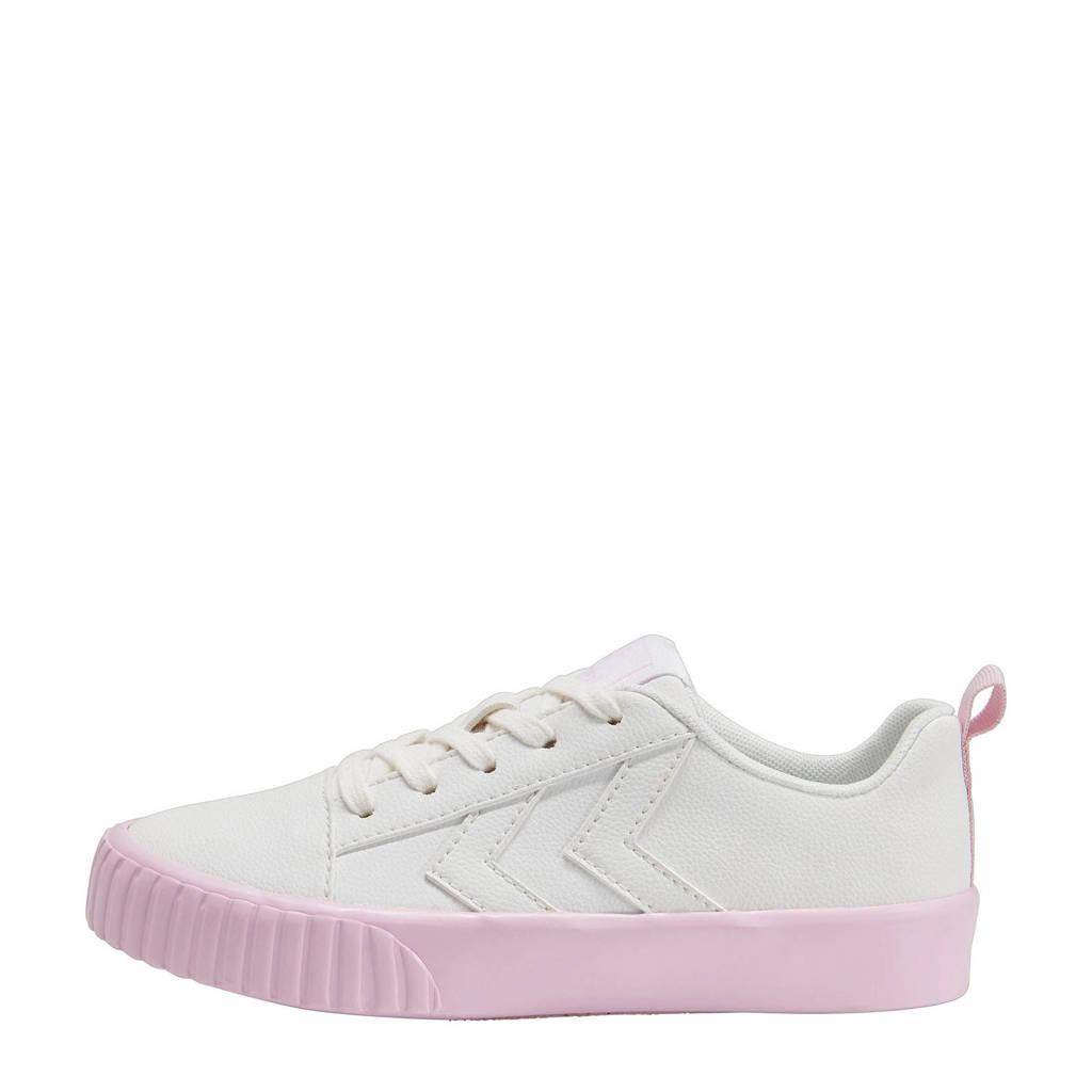 hummel Base Court Classic Jr  sneakers wit/lila, Wit/lila
