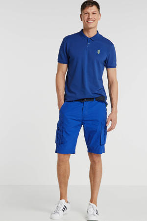 regular fit cargo bermuda blauw