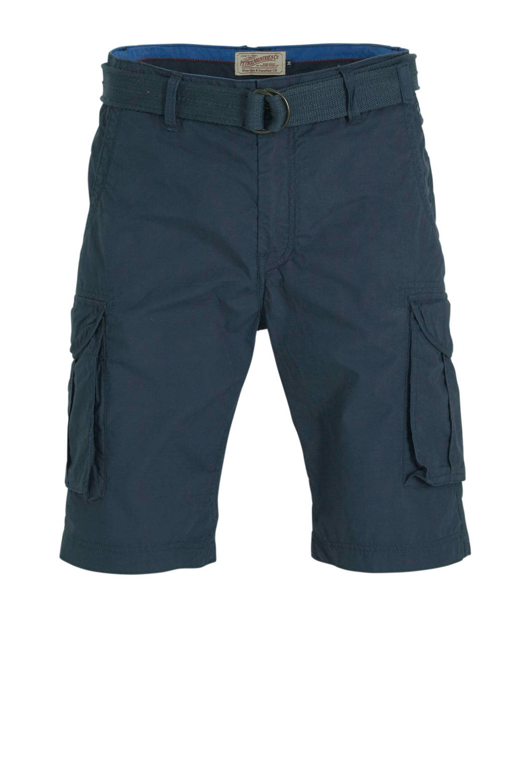 Petrol Industries regular fit cargo bermuda deep navy, Deep navy