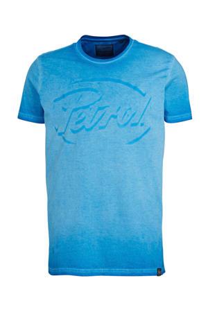 T-shirt met logo blauw