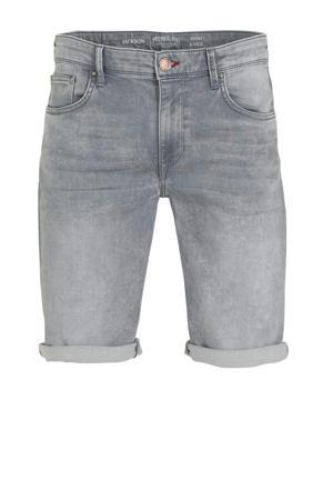 slim fit jeans short dusty silver