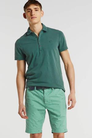 regular fit bermuda met stippen groen