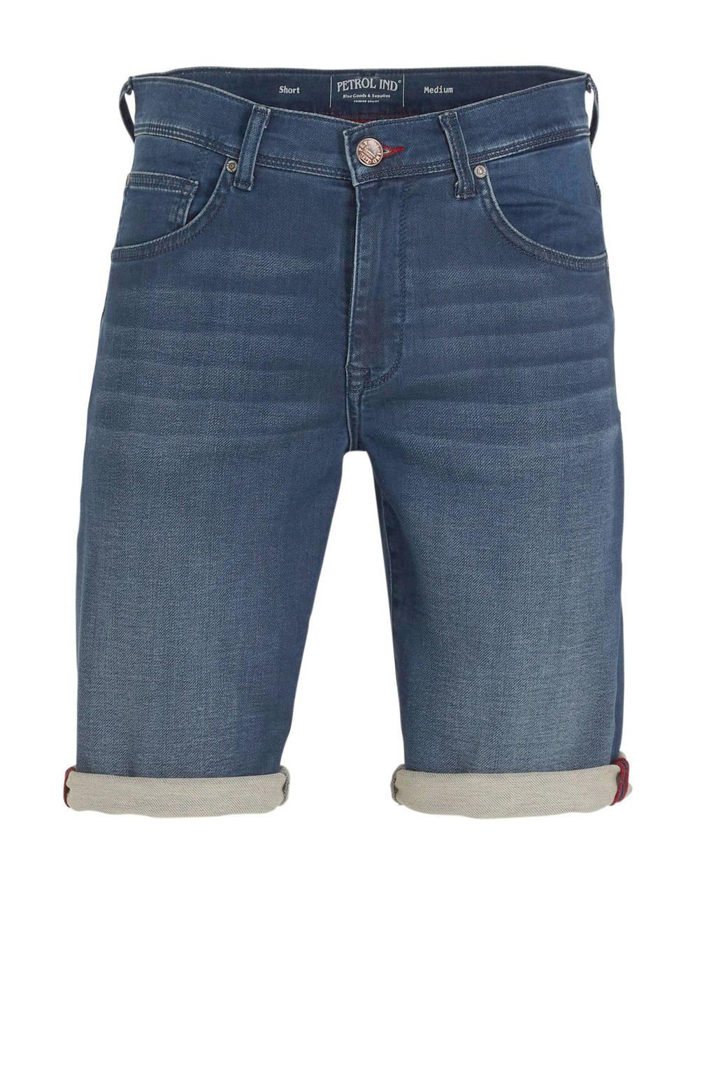 Petrol Industries slim fit jeans short blauw, Blauw