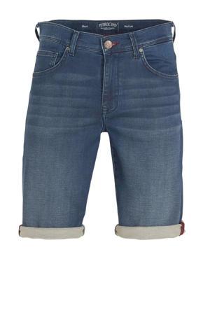 slim fit jeans short blauw