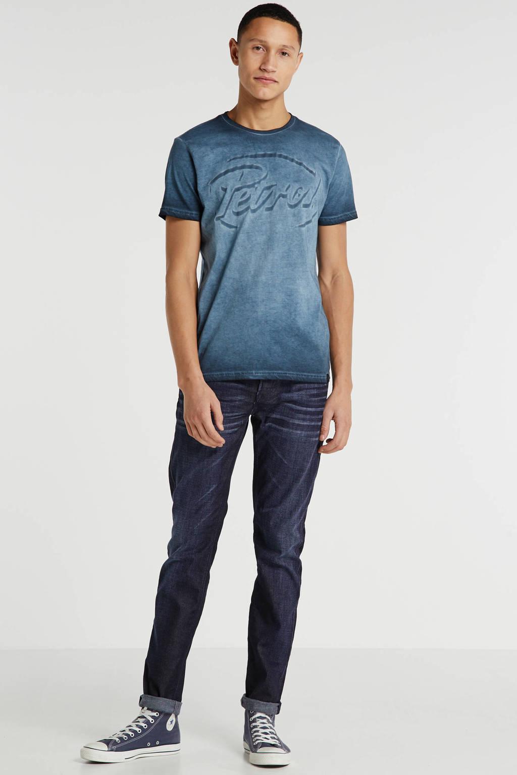 Petrol Industries T-shirt met logo blauw, Blauw