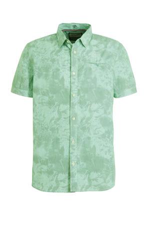 regular fit overhemd met all over print lichtgroen