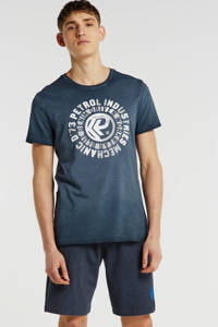 Petrol Industries T-shirt met printopdruk grijs, Grijs