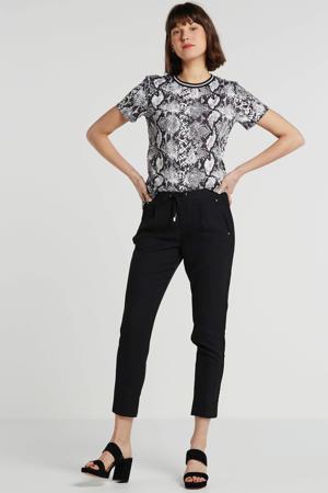 high waist slim fit broek Gabi zwart