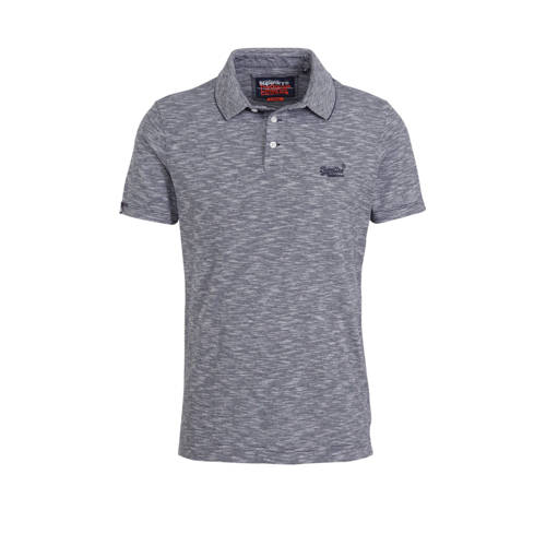Superdry regular fit polo donkerblauw