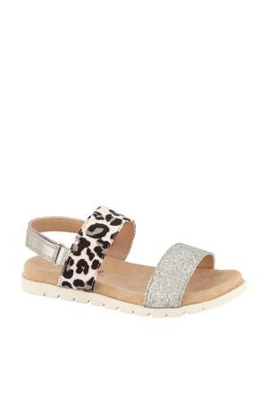 sandalen panterprint/zilver
