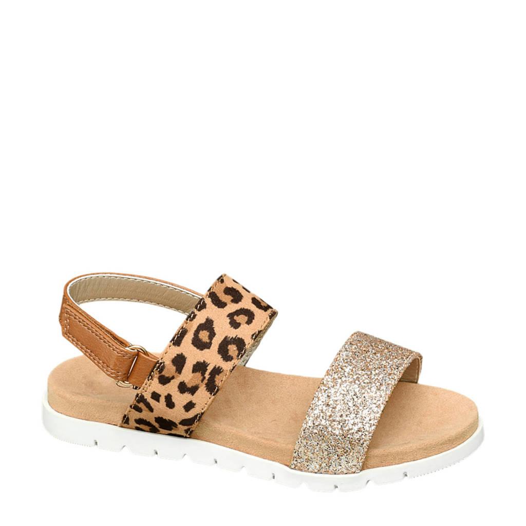 Cupcake Couture   sandalen panterprint/goud, Goud/bruin