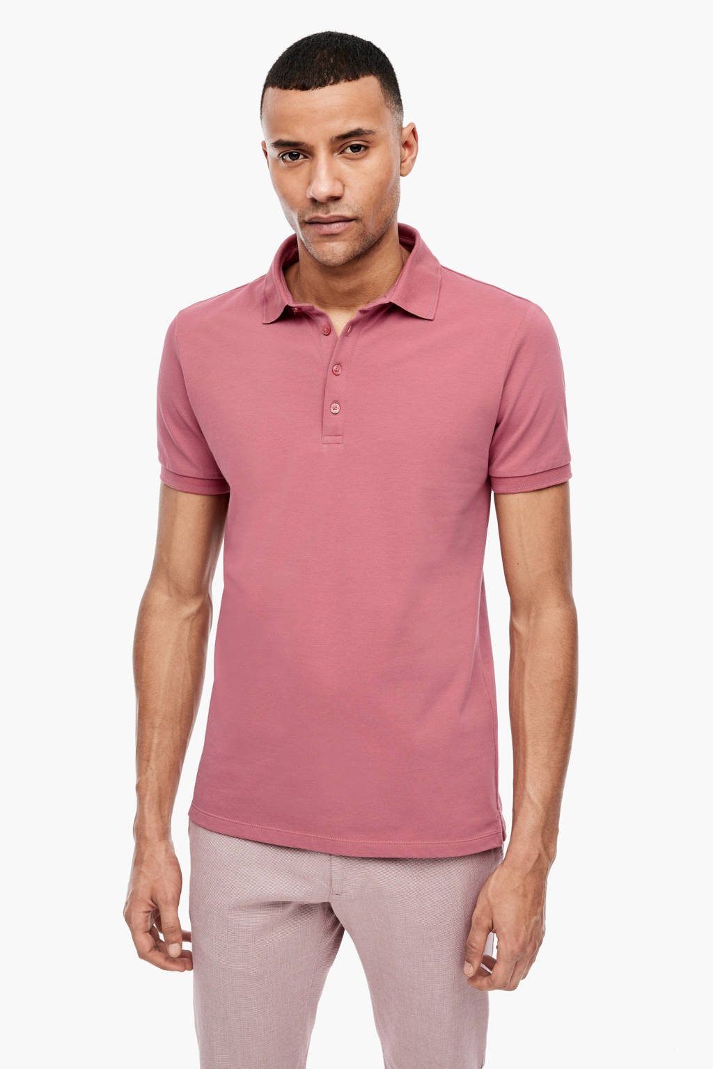 s.Oliver BLACK LABEL regular fit polo roze, Roze